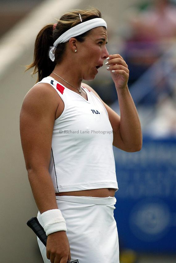 Photograph: Scott Heavey..Hastings Direct Womens Tennis.  Eastbourne. 18/06/2003..Jennifer Capriati