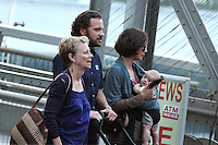 July 31,  2012 Director Naomi Foner, Peter Sarsgaard, Maggie Gyllenhaal and Gloria Ray Sarsgaard on location for Very Good Girls at the NY Waterway in New York City. &copy; RW/MediaPunch Inc. /NORTEPHOTO*COM*<br />
