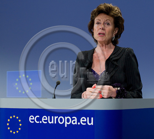 Brussels-Belgium - May 19, 2010 -- Neelie KROES, Vice-President of the European Commission  / European Commissioner from The Netherlands and in charge of 'Digital Agenda', during a press conference in the HQ of the EC -- Photo: Horst Wagner / eup-images