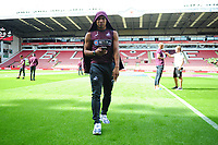 Swansea City's Jefferson Montero walks the pitch prior to the Sky Bet Championship match between Sheffield United and Swansea City at Bramall Lane, Sheffield, England, UK. Saturday 04 August 2018