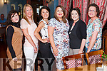 Gr&aacute;inne Hennessy Abbeyfeale  after being &quot;Wined &amp; Dined&quot; by her<br /> friends on Sunday night in Leen's Hotel to celebrate the recent birth<br /> of her daughter Lauren.<br /> L-R Julia Belmonte, Margaret Healy,Raphaelle O' Connor, Gr&aacute;inne<br /> Hennessy, Theresa Ahern &amp; Lee Collins.