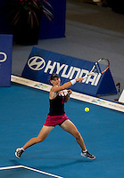 Smanatha Stosur (AUS) against Maria Jose Martinez Sanchez (ESP) in the Group A match between Spain and Australia.  Martinez Sanchez beat Stosur 6-4 6-1..International Tennis - Hyundai Hopman Cup XXII - Thur 07 Jan 2010 - Burswood Dome - Perth - Australia ..© Frey - AMN Images, 1st Floor Barry House, 20-22 Worple Road, London, SW19 4DH