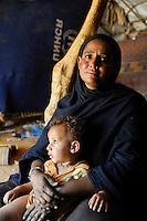 BURKINA FASO Djibo , malische Fluechtlinge, vorwiegend Tuaregs, im Fluechtlingslager Mentao des UN Hilfswerks UNHCR, sie sind vor dem Krieg und islamistischem Terror aus ihrer Heimat in Nordmali geflohen, MATATA WALETT ALY Vertreterin der Frauen im Lager MENTAO-NORD /<br /> BURKINA FASO Djibo, malian refugees, mostly Touaregs, in refugee camp Mentao of UNHCR, they fled due to war and islamist terror in Northern Mali