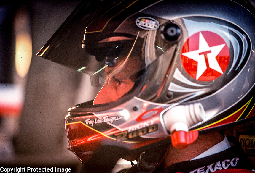 Ricky Rudd in his car before qualifying at the Popsecret 400 at Rockingham, NC in October 2000. (Photo by Brian Cleary)