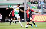 Lars Stindl (Bor. Moenchengladbach) (links) im Zweikampf mit Marko Grujic (Hertha BSC Berlin).<br /><br />27.06.2020, Fussball, 1. Bundesliga, Saison 2019/20, 34. Spieltag, Borussia Moenchengladbach - Hertha BSC Berlin, <br /><br />Foto: MORITZ MUELLER/POOL/via/Meuter/Nordphoto<br />Only for Editorial use