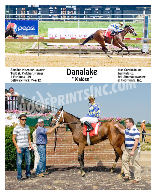 Danalake winning at Delaware Park on 7/4/12