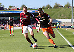Northampton's Matt Taylor tussles with Sheffield United's Jack O'Connell during the League One match at the Sixfields Stadium, Northampton. Picture date: April 8th, 2017. Pic David Klein/Sportimage