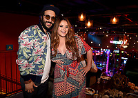 """LOS ANGELES, CA - APRIL 3: (L-R) Cast members Desmin Borges and cast member Kether Donohue attend the post-party at Two Bit Circus following the FYC Red Carpet event for the series finale of FX's """"You're the Worst"""" on April 3, 2019 in Los Angeles, California. (Photo by Frank Micelotta/FX/PictureGroup)"""