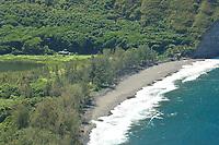 Waipio valleys western beach The Big Island of Hawaii, Pacific Ocean