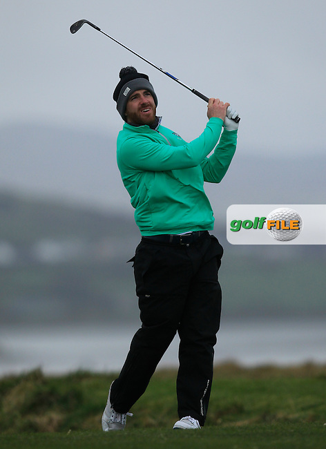 Darragh Coghlan (Portmarnock) on the 4th during the Stroke Play Round 1 of the West of Ireland Amateur Open Championship at the Co. Sligo Golf Club in Rosses Point on Friday 25th March 2016.<br /> Picture:  Golffile / Thos Caffrey