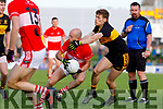 Paul Devane Dingle in action against Gavin White of Dr. Crokes during the Kerry County Senior Club Football Championship Final match between Dr Crokes and Dingle at Austin Stack Park in Tralee, Kerry on Sunday.