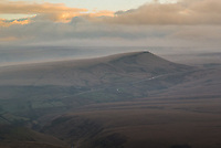 An afternoon view of Saddleworth Moor from the A640 New Hey Road at Buckstones.