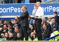 Burnley Manager Sean Dyche and Everton Manager Ronald Koeman<br /> <br /> Photographer Rachel Holborn/CameraSport<br /> <br /> The Premier League - Everton v Burnley - Sunday 1st October 2017 - Goodison Park - Liverpool<br /> <br /> World Copyright &copy; 2017 CameraSport. All rights reserved. 43 Linden Ave. Countesthorpe. Leicester. England. LE8 5PG - Tel: +44 (0) 116 277 4147 - admin@camerasport.com - www.camerasport.com