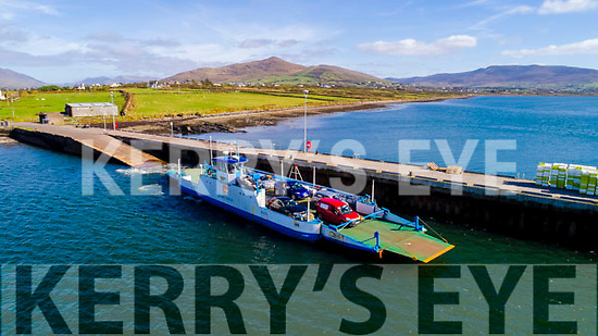 The Valentia Island Ferry departing Renard Point providing a vital piece of infrastructure to the sustainability of the Island.