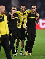 FUSSBALL  DFB POKAL FINALE  SAISON 2015/2016 in Berlin FC Bayern Muenchen - Borussia Dortmund         21.05.2016 Pierre-Emerick Aubameyang (Borussia Dortmund) braucht beim Weg in die Kabine Hile