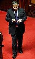 ADELFIO ELIO CARDINALE SOTTOSEGRETARIO ALLA SALUTE.Roma 22/12/2011 Senato. Voto di Fiducia sulla Manovra Economica.Votation at Senate about austerity plan. .Photo Samantha Zucchi Insidefoto