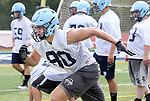 OXFORD CT. 14 August 2017-081417SV04-Robert Sergiyenko of Oxford High football runs a drill during a practice at the school in Oxford Monday. <br /> Steven Valenti Republican-American