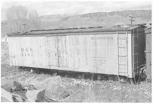 RGS reefer #2101 at Ridgway.<br /> RGS  Ridgway, CO  Taken by Richardson, Robert W. - 5/25/1951
