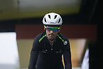 Team Dimension Data at sign on for a wet Stage 2 of the Criterium du Dauphine 2019, running 180km from Mauriac to Craponne-sur-Arzon, France. 9th June 2019<br /> Picture: Colin Flockton | Cyclefile<br /> All photos usage must carry mandatory copyright credit (© Cyclefile | Colin Flockton)