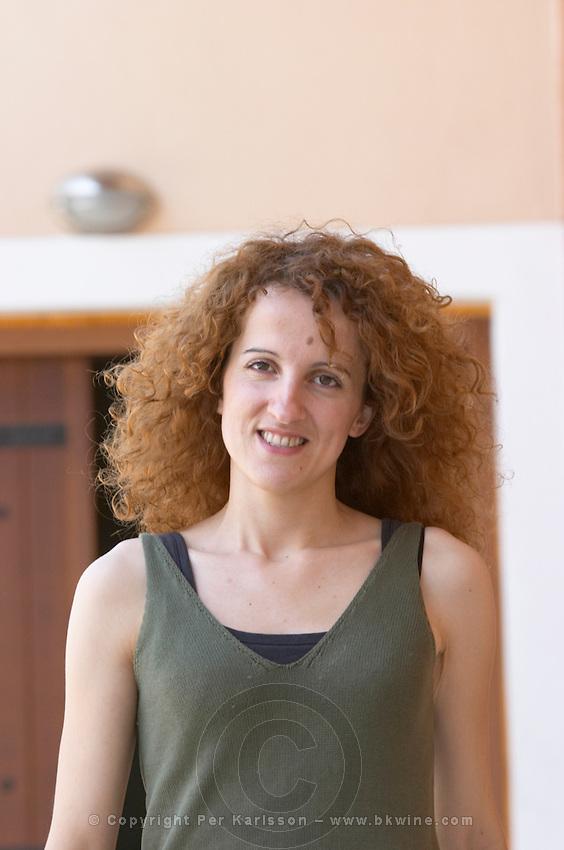 Ageliki Biba, oenologist winemaker. Wine Art Estate Winery, Microchori, Drama, Macedonia, Greece