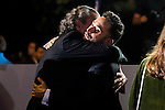"""Jose Coronado and the director of the film J.A. Bayona during the premiere of the spanish film """"Un Monstruo Viene a Verme"""" of J.A. Bayona at Teatro Real in Madrid. September 26, 2016. (ALTERPHOTOS/Borja B.Hojas)"""