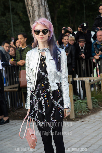 Claire Boucher attend Louis Vuitton Show Front Row - Paris Fashion Week  2016.<br /> October 7, 2015 Paris, France<br /> Picture: Kristina Afanasyeva / Featureflash