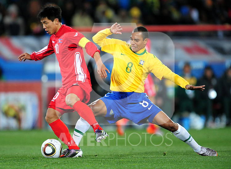 10 HONG Yong Jo  during the 2010 FIFA World Cup South Africa Group G match between Brazil and North Korea at Ellis Park Stadium on June 15, 2010 in Johannesburg, South Africa.