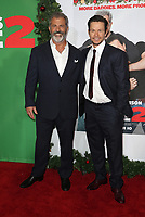 WESTWOOD, CA - NOVEMBER 5: Mel Gibson and Mark Wahlberg at the premiere of Daddy's Home 2 at the Regency Village Theater in Westwood, California on November 5, 2017. Credit: Faye Sadou/MediaPunch