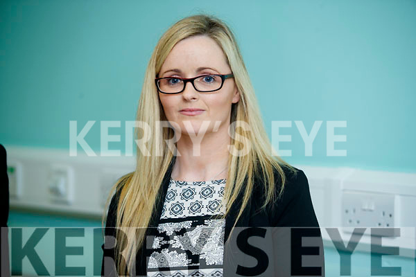 Breda O'Riordan (Business Manager Chief Operations Officer South/South West Hospital Group), pictured at a press conference at University Hospital Kerry on Monday.