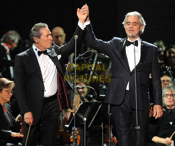 New York,NY-December 9: Andrea Bocelli, Eugene Kohn performs in concert at Madison Square Garden on December 9, 2015 in New York City. <br /> CAP/MPI/STV<br /> &copy;STV/MPI/Capital Pictures