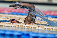 Marco De Tullio swims during a training session.  <br /> Italian athletes were able to resume training last week after more than 50 days of lockdown due to the coronavirus (covid-19) pandemic <br /> Roma 12-5-2020 Centro Federale di Ostia <br /> Photo Andrea Staccioli / Deepbluemedia / Insidefoto