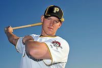 Feb 28, 2010; Bradenton, FL, USA; Pittsburgh Pirates  catcher Luke Carlin (75) during  photoday at Pirate City. Mandatory Credit: Tomasso De Rosa/ Four Seam Images