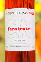 Cuvee Farniente. Domaine Coume del Mas. Banyuls-sur-Mer. Roussillon. France. Europe. Bottle.