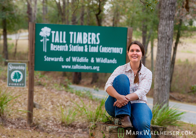 Angie Reid at Tall Timbers Research Station and Land Conservancy in Leon County Florida north of Tallahassee January 15, 2013.  . The Research Station is recognized as the home of the study of fire ecology and is an advocate to protect the right to use prescribed fire for land management.