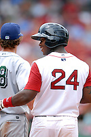 Lowell Spinners OF BRANDON JACOBS  during a game vs. the Jamestown Jammers at Fenway Park in Boston, Massachusetts on July 10, 2010 Photo By Ken Babbitt/Four Seam Images