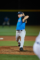 Tampa Tarpons relief pitcher Kyle Zurak (25) during a Florida State League game against the Lakeland Flying Tigers on April 5, 2019 at Publix Field at Joker Marchant Stadium in Lakeland, Florida.  Lakeland defeated Tampa 5-3.  (Mike Janes/Four Seam Images)
