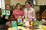 Zoe and Hannah Ettie, Anita and Stephanie Adu and Patricia Mullen at the Card Making Workshop in The Library...Photo NEWSFILE/Jenny Matthews.(Photo credit should read Jenny Matthews/NEWSFILE)....This Picture has been sent you under the condtions enclosed by:.Newsfile Ltd..The Studio,.Millmount Abbey,.Drogheda,.Co Meath..Ireland..Tel: +353(0)41-9871240.Fax: +353(0)41-9871260.GSM: +353(0)86-2500958.email: pictures@newsfile.ie.www.newsfile.ie.FTP: 193.120.102.198.