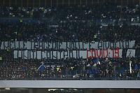 Supporters of Napoli show a banner about Coronavirus COVID-19<br /> Napoli 29-02-2020 Stadio San Paolo <br /> Football Serie A 2019/2020 SSC Napoli - Torino FC<br /> Photo Cesare Purini / Insidefoto