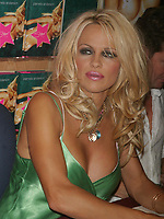 PAMELA ANDERSON SIGNS COPIES OF HER NEW NOVEL STAR AT BORDERS BOOKS, NEW YORK CITY 08/03/2004<br /> Photo By John Barrett/PHOTOlink