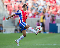 SANDY, UT - July 13, 2013: Costa Rica National Team midfielder Celso Borges (5) during the Costa Rica vs Belize match at Rio Tinto Stadium in Sandy, Utah. Final score Costa Rica 1, Belize 0.