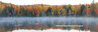 64776-010.17 Fall Color at small lake or pond Alger county in the Upper Peninsula, MI