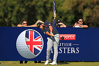 Andrew Johnston (ENG) on the 2nd tee during the Pro-Am for the Sky Sports British Masters at Walton Heath Golf Club in Tadworth, Surrey, England on Tuesday 10th Oct 2018.<br />