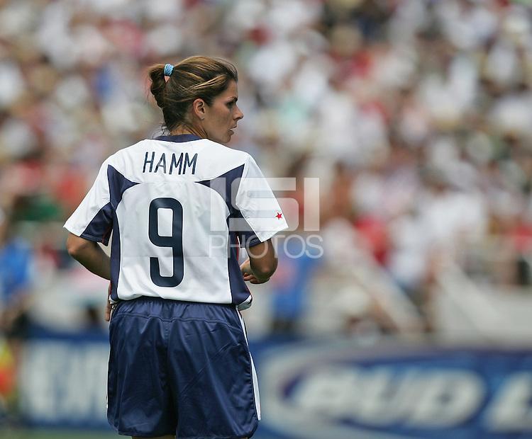 Mia Hamm, USA v Mexico, 2004.