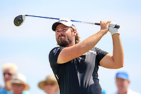 Victor Dubuisson (FRA) on the 3rd tee during the 1st round of the 2017 Portugal Masters, Dom Pedro Victoria Golf Course, Vilamoura, Portugal. 21/09/2017<br /> Picture: Fran Caffrey / Golffile<br /> <br /> All photo usage must carry mandatory copyright credit (&copy; Golffile | Fran Caffrey)