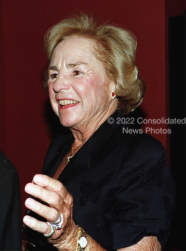 Ethel Kennedy at the controversial new exhibit on sweatshops at the Smithsonian Museum of American History in Washington, DC on April 21, 1998.  She was a guest along with Frank and Kathie Lee Gifford.<br /> Credit: Ron Sachs / CNP