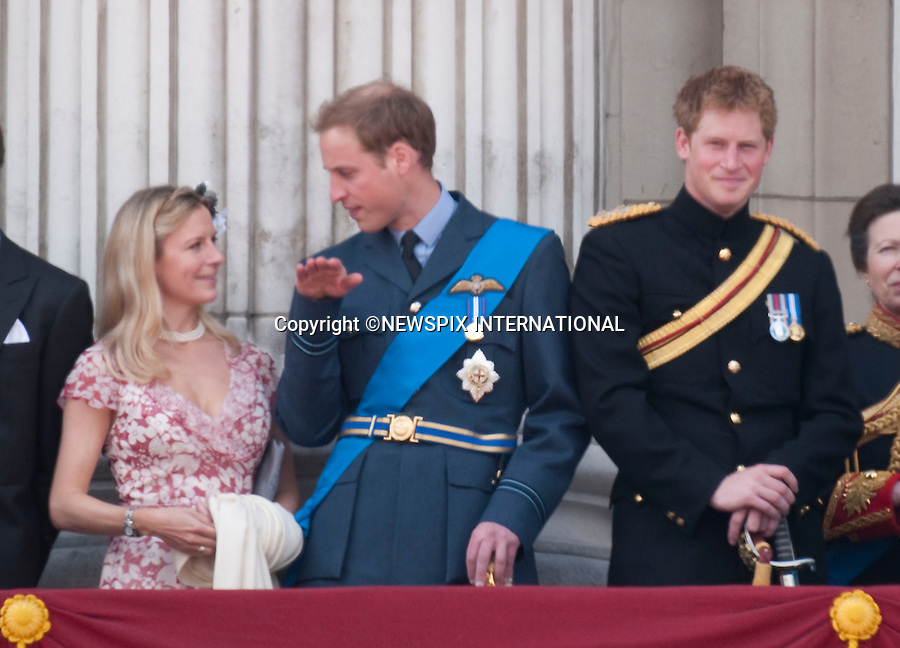 "PRINCE WILLIAM REGALES COUSIN LADY ROSE WITH HIS FLYING.Members of the royal join the Queen on the balcony of Buckingham Palace to watch the fly-past b the RAF. For the first time this year Prince William wore an RAF uniform as he has recently joined them..The Queen's Official Birthday celebrations, attended by Prince Charles, Prince William, Prince Harry, Camilla, Prince Edward and Princess Anne. London_13/06/2009.Mandatory Photo Credit: ©Dias/Newspix International..**ALL FEES PAYABLE TO: ""NEWSPIX INTERNATIONAL""**..PHOTO CREDIT MANDATORY!!: NEWSPIX INTERNATIONAL(Failure to credit will incur a surcharge of 100% of reproduction fees)..IMMEDIATE CONFIRMATION OF USAGE REQUIRED:.Newspix International, 31 Chinnery Hill, Bishop's Stortford, ENGLAND CM23 3PS.Tel:+441279 324672  ; Fax: +441279656877.Mobile:  0777568 1153.e-mail: info@newspixinternational.co.uk"