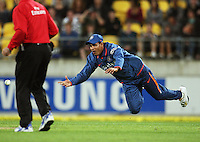 India's Yusuf Pathan attempts a run-out during 2nd Twenty20 cricket match match between New Zealand Black Caps and West Indies at Westpac Stadium, Wellington, New Zealand on Friday, 27 February 2009. Photo: Dave Lintott / lintottphoto.co.nz