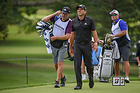 Sergio Garcia (ESP) and his brother/caddie head down 3 during 1st round of the World Golf Championships - Bridgestone Invitational, at the Firestone Country Club, Akron, Ohio. 8/2/2018.<br /> Picture: Golffile | Ken Murray<br /> <br /> <br /> All photo usage must carry mandatory copyright credit (&copy; Golffile | Ken Murray)