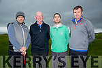 Alan O'Connor, Maurice Laide, Donnie O'Keeffe and Kevin Lucey at the Capt Drive in at the Tralee Golf Club on Sunday