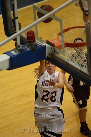 Taylorsville - Springville's Genna Brown (22) shoots. Springville vs. Roy High School girls basketball, 4A State Basketball Tournament Wednesday February 25, 2009 at Salt Lake Community College.